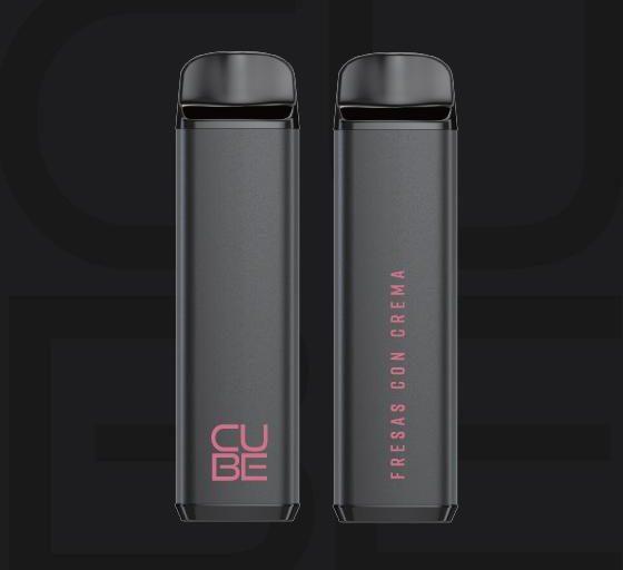 Cube – Fresas Con Crema Disposable Pod by VaporTech Review